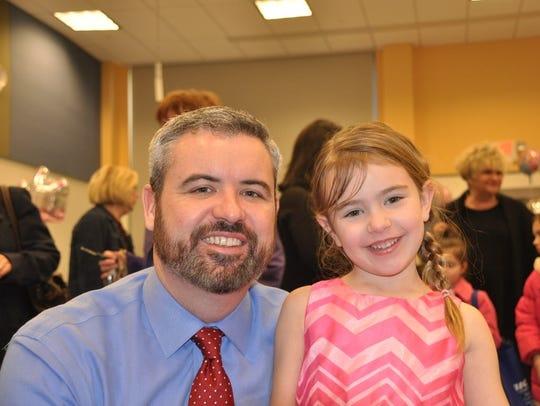 Matt Doonan and his daughter Bridget attend the Inspira