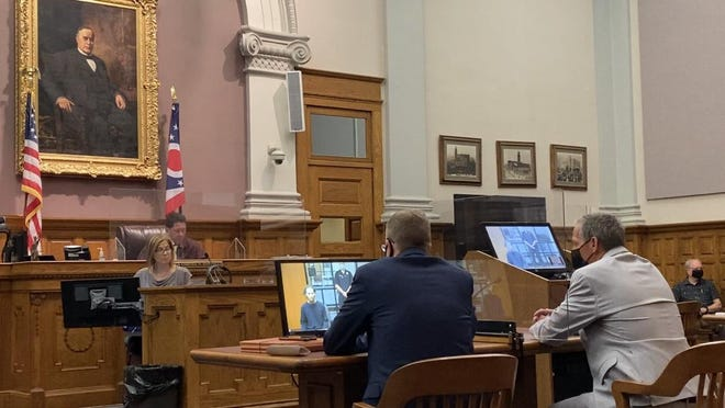 Stark County Common Pleas Court Judge Frank Forchione continued a sanity hearing for Jacob T. Stockdale, who faces two counts of murder in the 2017 shooting deaths of his mother and brother. Stockdale didn't respond during Monday's hearing to the judge's questions asked through a video link between the courthouse and Heartland Behavioral Health.