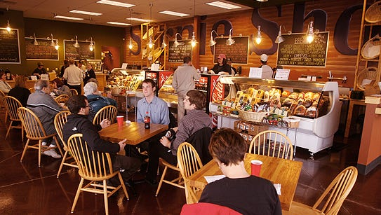 The interior of a JB's Sarnie Shoppe in Perrysburg, Ohio. The deli will open in August in the Knapp's Centre.