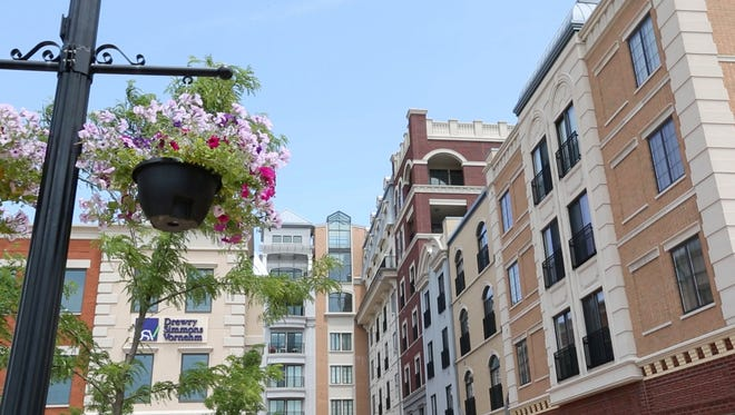 This view shows City Center in downtown Carmel, Ind.