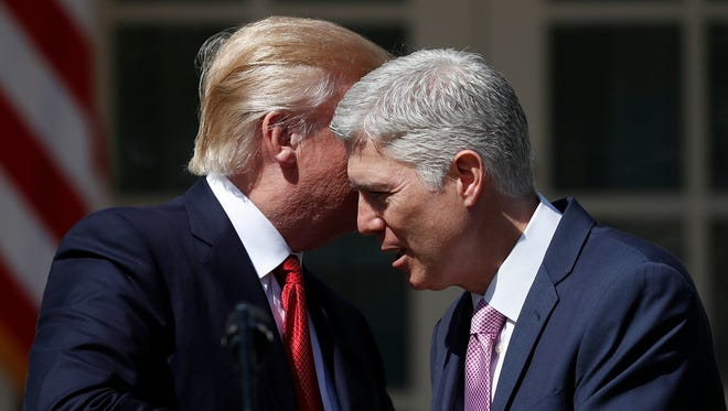 Supreme Court Justice Neil Gorsuch was the first of 87 federal court nominees for President Trump. Only two have been African American or Hispanic.