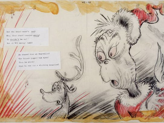 """""""Soundedmerry Full 2"""" by Dr. Seuss is on display at"""