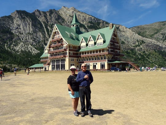 Linda and Ted Tozier of Scottsdale enjoyed a stay at the historical Prince of Wales Hotel overlooking Waterton Lake.