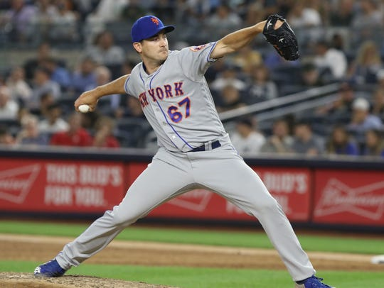 Seth Lugo came in to pitch in relief of Noah Syndergaard