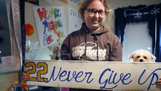 Lauren Hill's mom posted to Facebook Sunday evening to update her family, friends and fans about her condition.