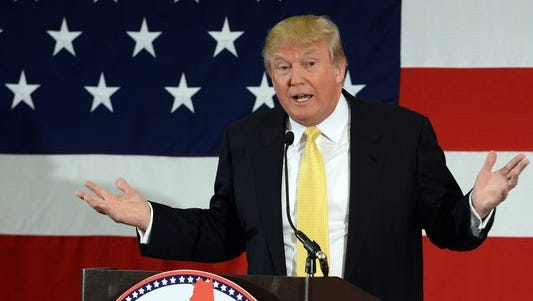 Donald Trump speaks at a Republican event on April 18, 2015, in Nashua, N.H.