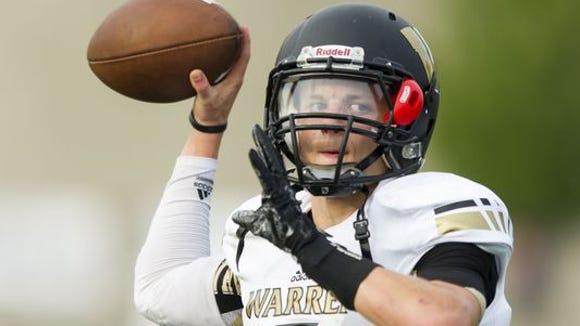 Warren Central quarterback Zach Summeier