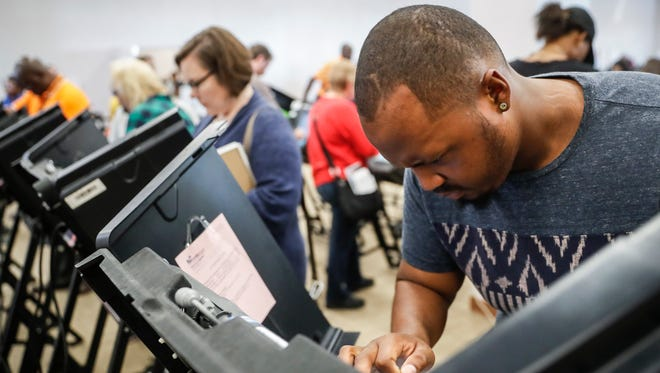 Elijah Ransom of Columbus, Ohio, voted early in the 2016 election.