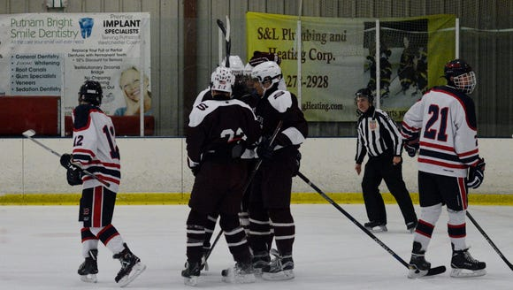 Scarsdale celebrates after Jack Brosgol gave the Raiders