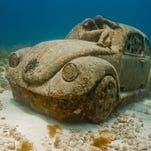 Beautiful and eerie images of the unique Cancun Underwater Museum