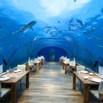 Conrad Maldives Rangali Island has an undersea restaurant.