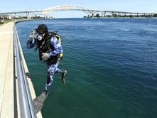 Former U.S. Navy diver Tim Brown dives every day in St. Clair River