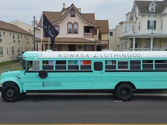 Kowasa Clothing Co.'s retrofitted bus.