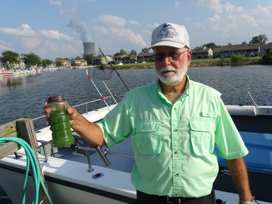 Oak Harbor charter boat captain Dave Spangler holds