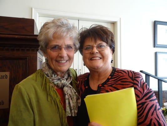 AE Loura Barr, State President Margaret Berry