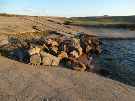 The Four Horns Dam on the southern end of the Blackfeet Indian Reservation is scheduled to be completely reconstructed. Water from this impoundment will be used to expand agriculture within the Fisher Flat Irrigation Project.