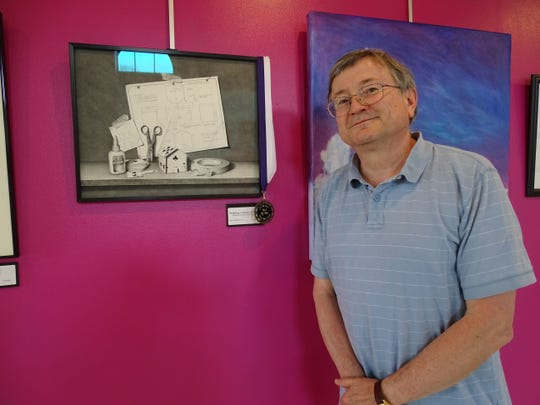 Rick Goldsberry won best of show for the annual Chillicothe Art League Spring Exhibition at the Pump House.