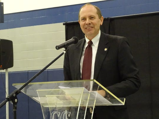 State Sen. Jay Hottinger spoke at a Mark Luther King Jr. Day prayer breakfast Monday at Coshocton Christian Tabernacle. He spoke on the importance of being a student of history and continuing to pursue the American Dream.