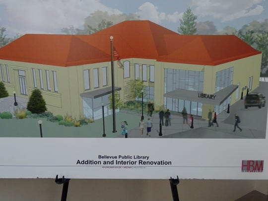 This is an artist's rendering of what the library will look like when the new entrance is finished.