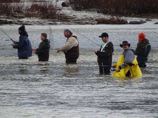 The Sandusky River is a popular spot for walleye and