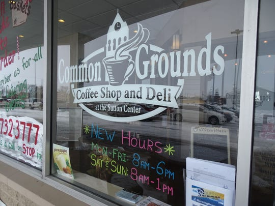 Common Grounds, open 7 a.m. to 6 p.m. Monday through Friday and 8 a.m. to 1 p.m. on the weekends, offers fresh baked goods, coffee, soups, salads and sandwiches.