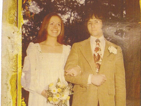 Kathleen Durst and Robert Durst on their wedding day.