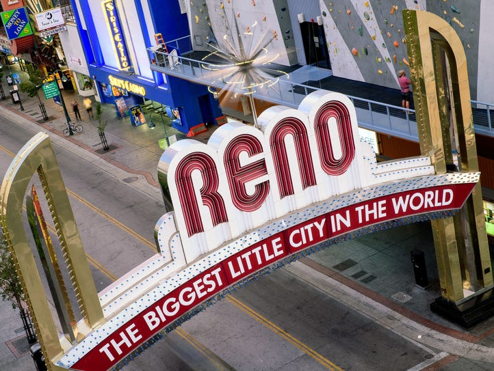 Reno Arch seen in 2015.