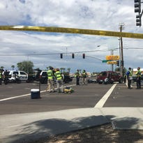 A man riding a motorcycle was killed in a crash on Aug. 23, 2016, at Country Club Drive and Southern Avenue in Mesa.