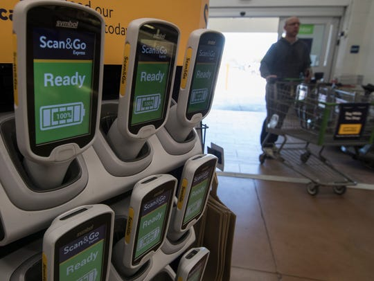 Walmart's new Scan & Go allows customers to scan items