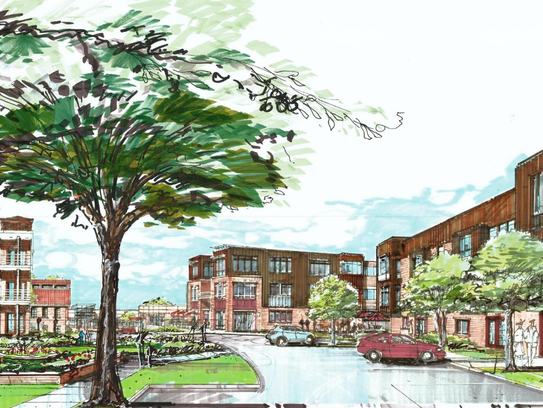A rendering of the $62 million project the Mandel Group