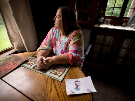 Stephanie Jackson's son, Eric, who suffers from drug addiction, was sent to a privately run prison in Kentucky after being convicted on burglary charges. The move made it difficult for her to visit.