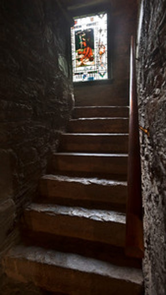 Stone stairway to the second floor of Indian Steps Museum in Lower Chanceford Township Sunday June 28, 2015 Paul Kuehnel - York Daily Record/ Sunday News