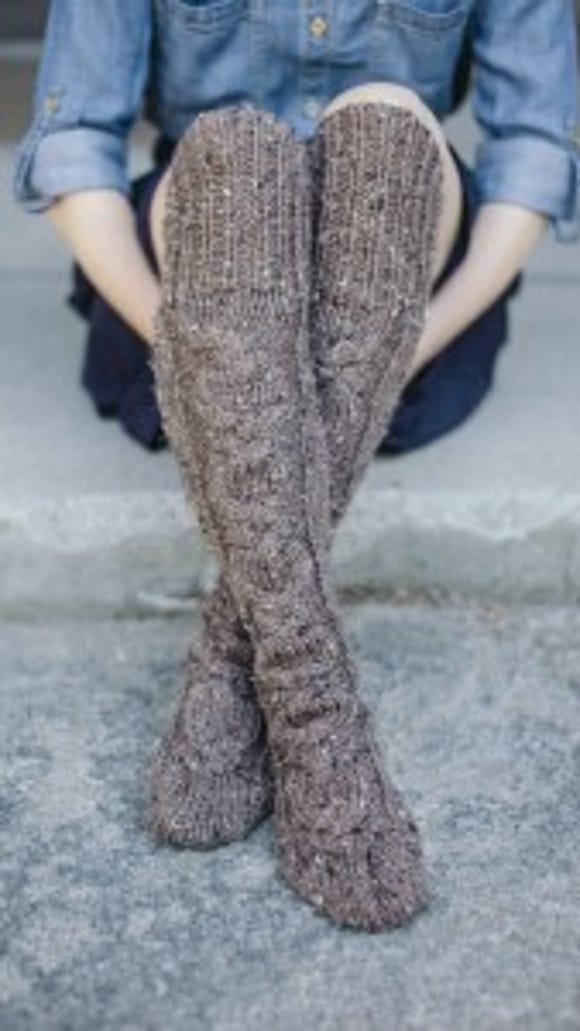 """Stay warm all winter with these Standing Stone Stockings from """"Highland Knits."""""""