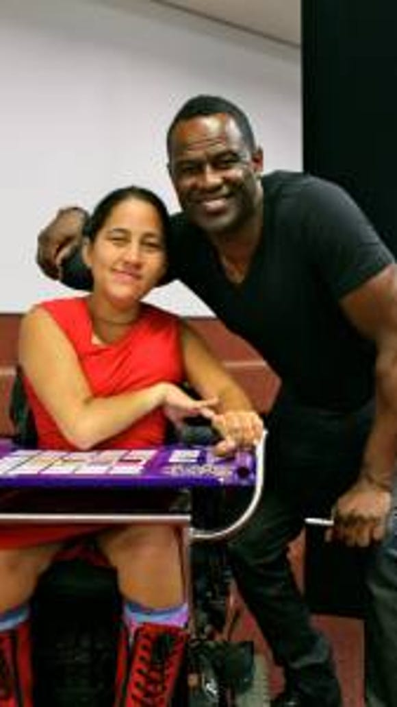 Marlena Katene with singer Brian McKnight. (Courtesy of Katene)