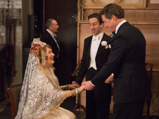 """Simon Helberg (center) stars with Meryl Streep and Hugh Grant in """"Florence Foster Jenkins."""""""