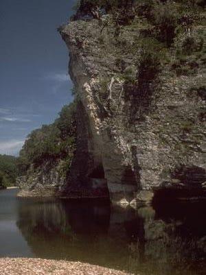 The Tyler Bend area on the Buffalo National River is near Marshall, Arkansas.