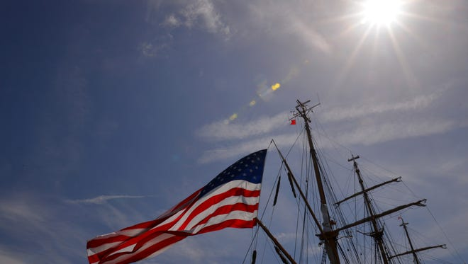 The U.S. Coast Guard cutter Eagle came into Port Canaveral early Wednesday morning. The ship, originally operated by Nazi Germany to train cadets for the German Navy, was a reparation for the United States after World War II. It is the only active commissioned tall ship in the U.S. government.