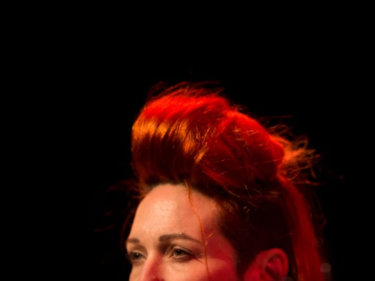 Shara Nova of My Brightest Diamond at the Bijou Theatre for Big Ears on Thursday, March 23, 2017.