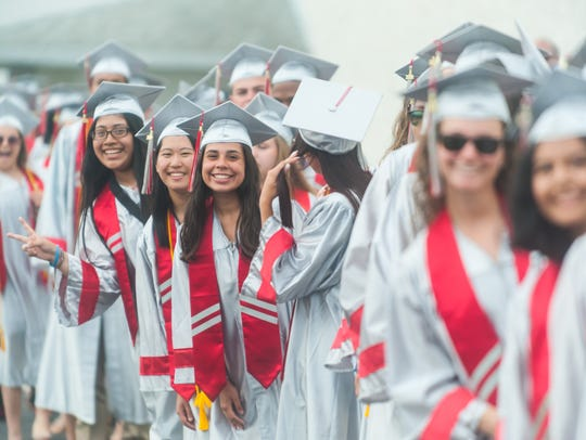 Vineland graduates enter during the Class Processional