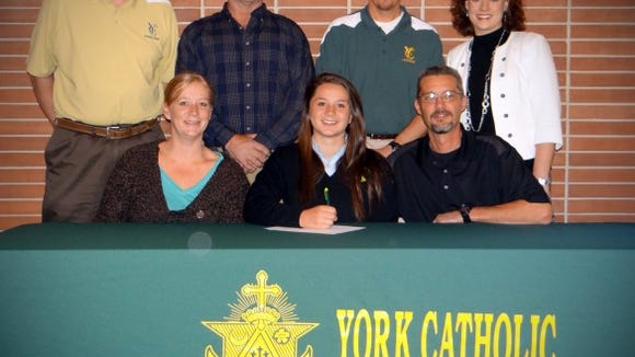 Sarah Gabriele signed to play lacrosse at Kutztown University.