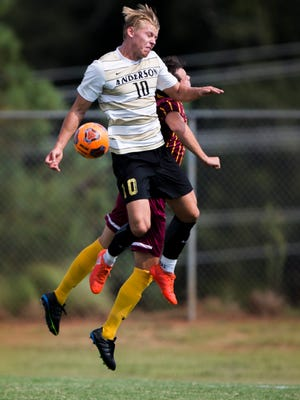 Anderson University forward Lars Kaula is a redshirt senior with seven goals over the last two seasons.