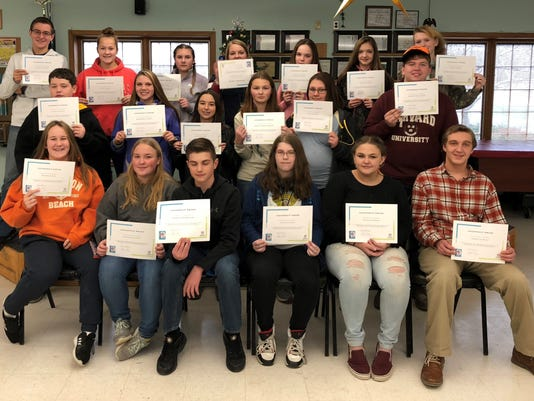Students complete training