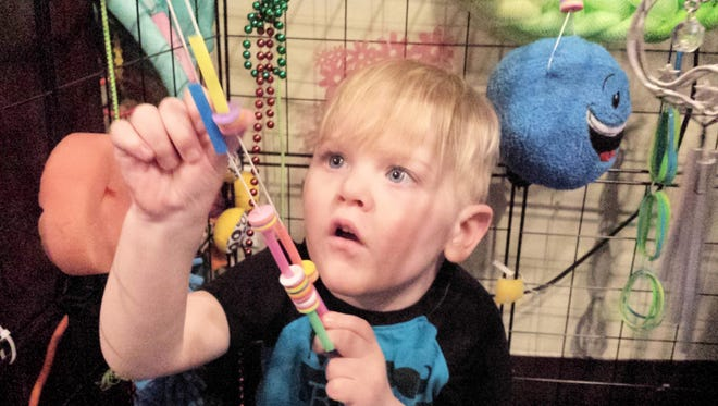 Peace Place Respite Care is filled with sensory objects and toys for toddlers to play with. While beneficial to all children, the specialized toys are especially important for children with special needs.