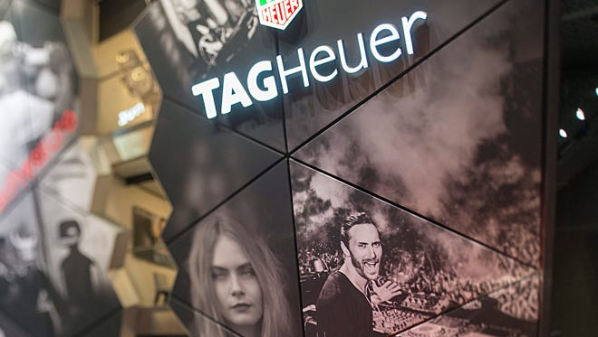 View of the Tag Heuer booth at the press day at the world watch and jewelery show Baselworld 2015 in Basel, Switzerland, on March 18, 2015.