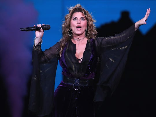 Shania Twain performs during the opening ceremony on