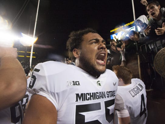 Jordan Reid likely will be a starter on Michigan State's