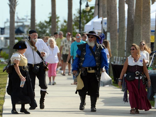 The 10th annual Treasure Coast Pirate Festival is Friday, Saturday and Sunday at Veterans Memorial Park in Fort Pierce.