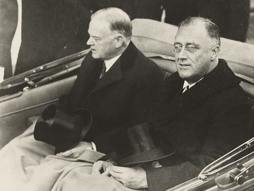 President-elect Franklin Delano Roosevelt, right, and