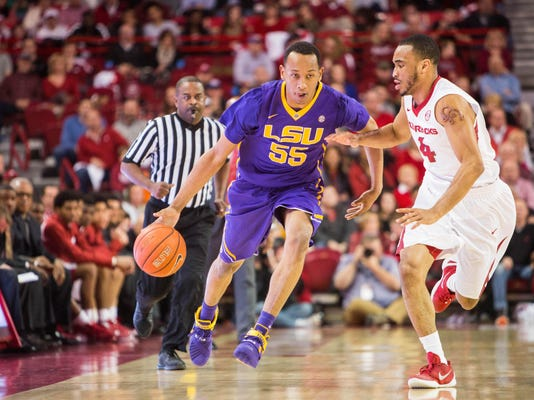 NCAA Basketball: Louisiana State at Arkansas