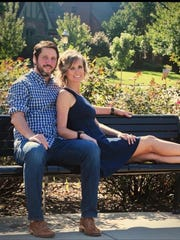 Jason Laine, from New Orleans, and Jessica Overley,